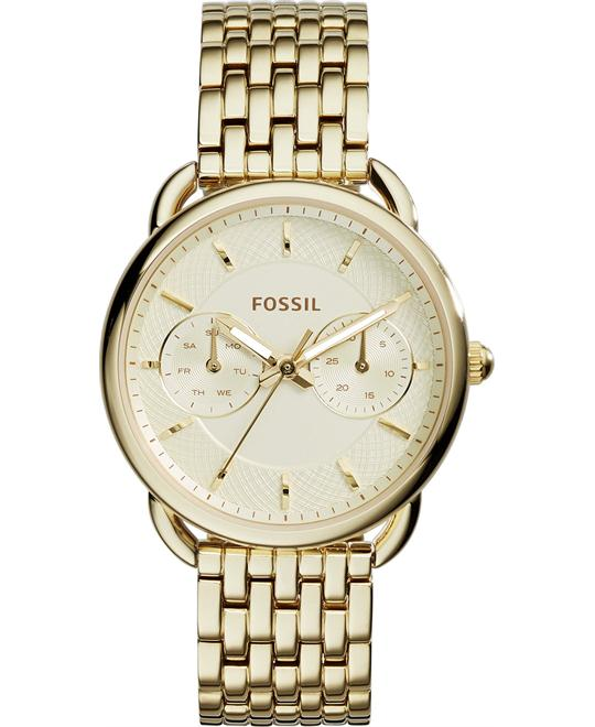 Fossil Women's Tailor Gold-Tone Watch 35mm
