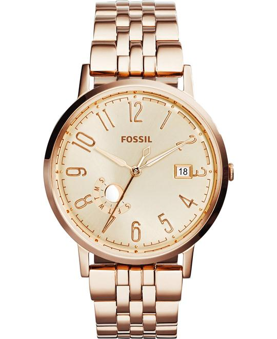 Fossil Unisex Vintage Rose Gold Watch 40mm