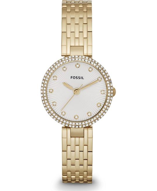 Fossil Women's Olive Analog  Gold Watch 28mm