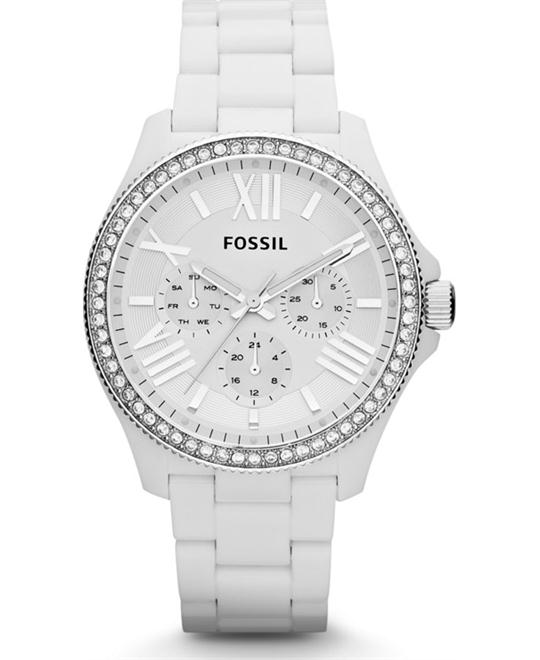 Fossil Women's White Plastic Watch  40mm