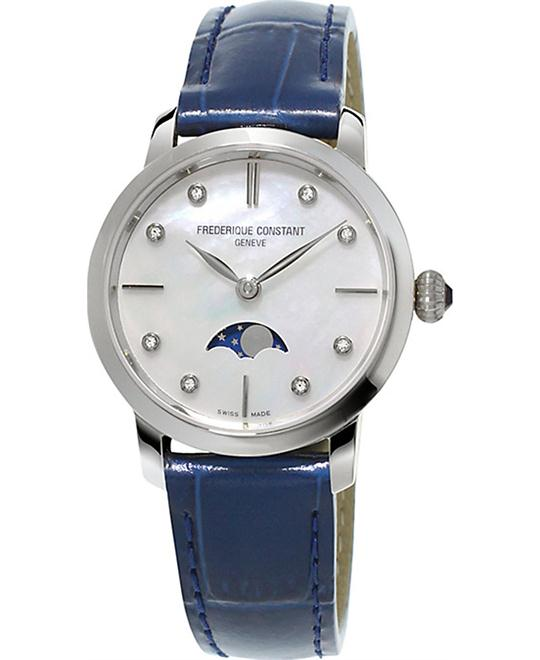 Frederique Constant FC-206MPWD1S6 Slimline Moonphase Watch 30mm