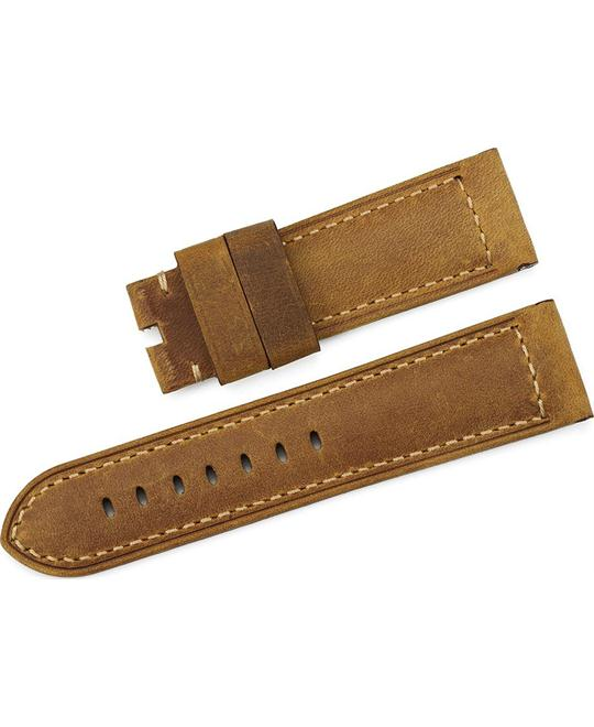 Genuine Calf Leather Asso Tang for Panerai Men Brown 24mm