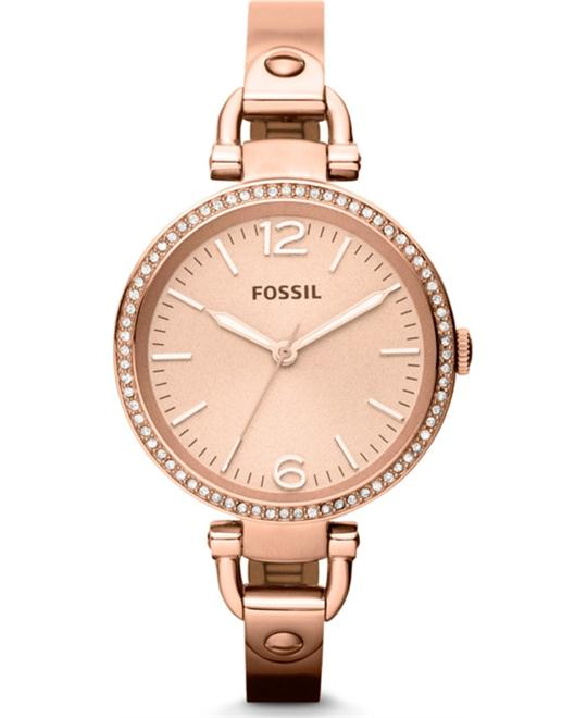Fossil Women's Georgia Rose Gold Bracelet Watch 32mm