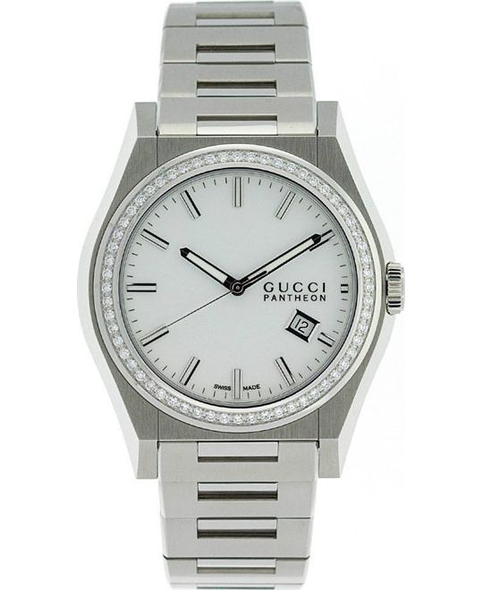 Gucci 115 Pantheon   Men's Diamonds Watch 44mm