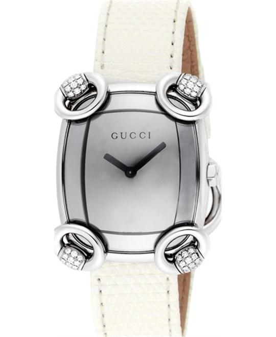 GUCCI  117 Horsebit Cocktail YA117506 DIAMOND WATCH 28x33mm