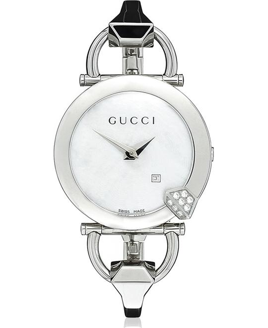 Gucci 122 Chiodo  Women's Diamond Watch 35mm