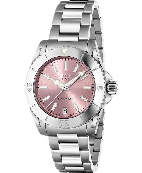 Gucci Dive Medium Pink Dial 32mm