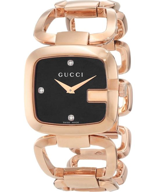 Gucci G Black  Diamond Ladies Watch 32x30mm
