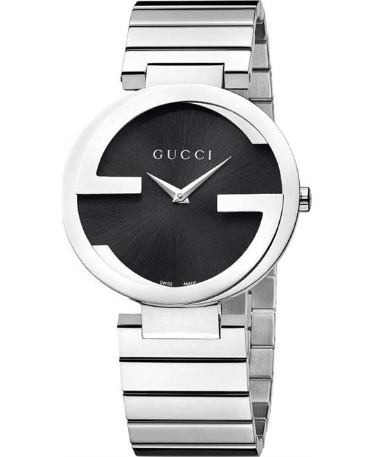 Gucci G Black  Women's Stainless Steel Watch 37mm