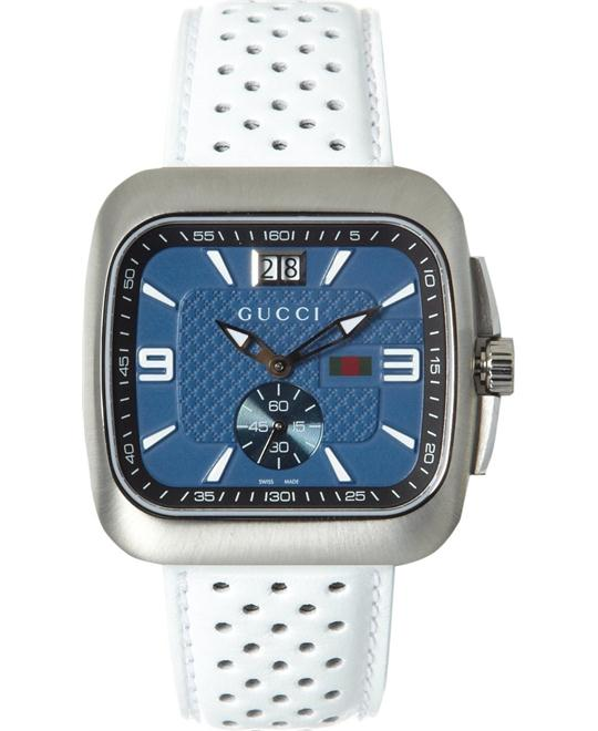 GUCCI G Coupe Quartz Blue Men's Watch 40mm