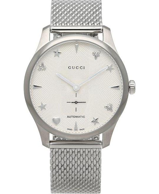 GUCCI G-Timeless Automatic Guilloche Watch 38mm