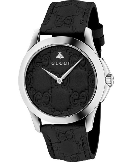 GUCCI G-Timeless Black Dial Men's Watch 38MM