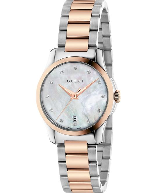 Gucci G-Timeless Diamond Mother of Pearl Watch 27mm