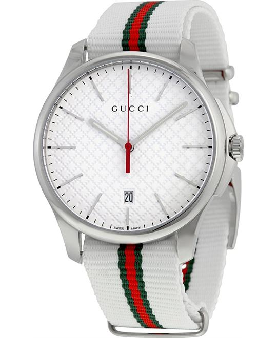 GUCCI G-Timeless  Fabric Strap Men's Watch 40mm