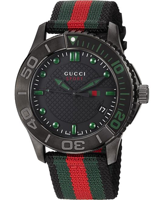 GUCCI G Timeless  Nylon Strap Men's Watch 44mm
