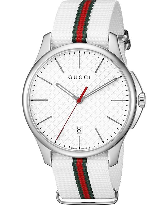 GUCCI G-Timeless Silver Men's Watch 41mm