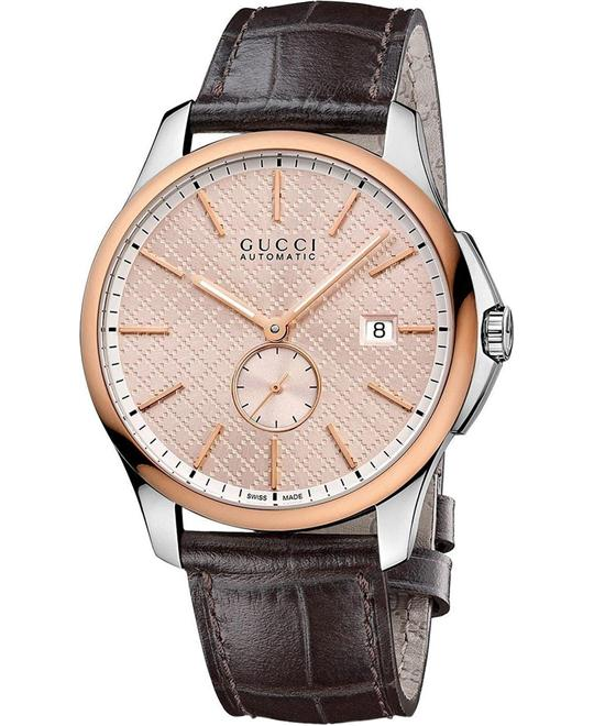 GUCCI G-Timeless  Automatic Rose Gold-tone Men's Watch 44mm