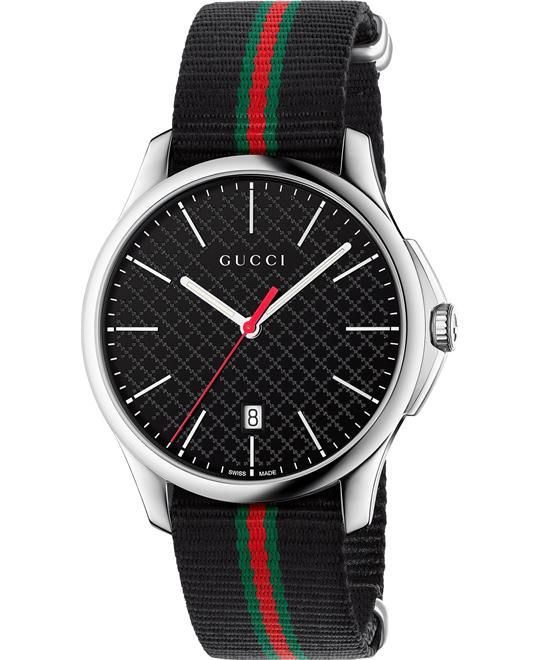 GUCCI G-Timeless  Fabric Striped Men's Watch 40mm