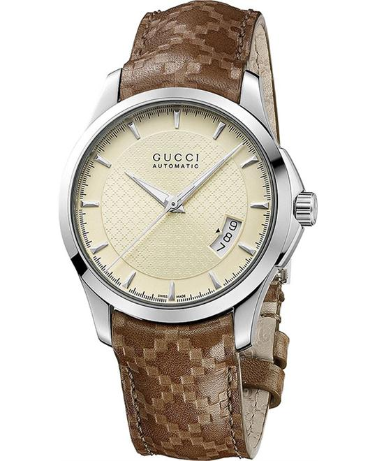Gucci G-Timeless  Men's Automatic Leather Watch 38mm
