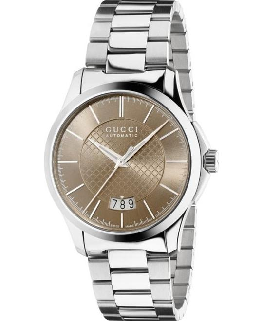 GUCCI G-Timeless  Automatic Diamond Pattern Dial  Watch 38mm