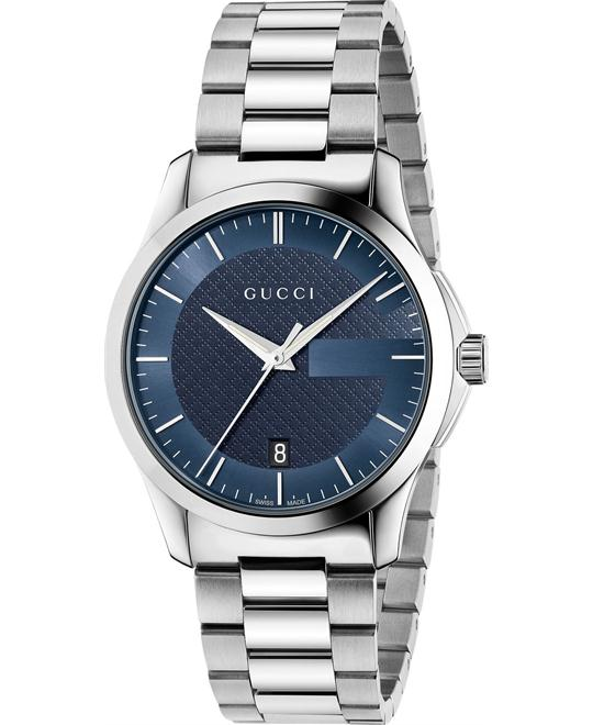 Gucci  G-Timeless  Unisex Swiss Silver Watch 38mm