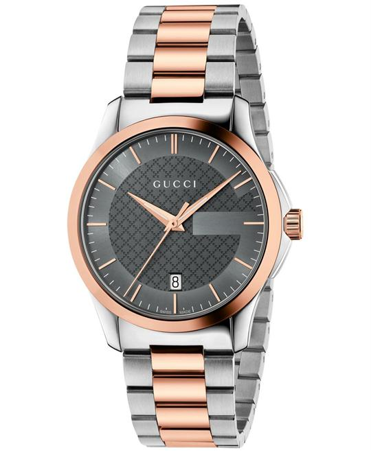 GUCCI G-Timeless  Grey Dial Two-tone Unisex Watch 38mm