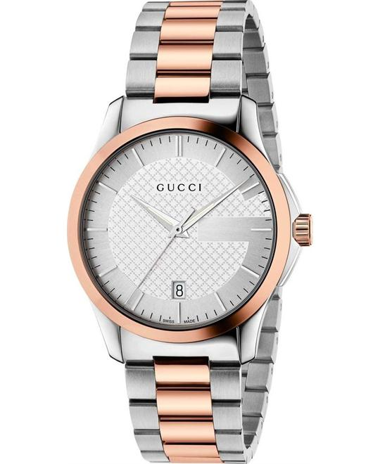 GUCCI G-Timeless  Pink Gold PVD Unisex Watch 38mm