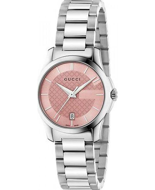GUCCI G-Timeless  Pink Dial Ladies Watch 27mm