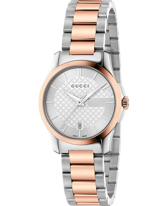 GUCCI G-Timeless YA126528 Silver Ladies Watch 27mm