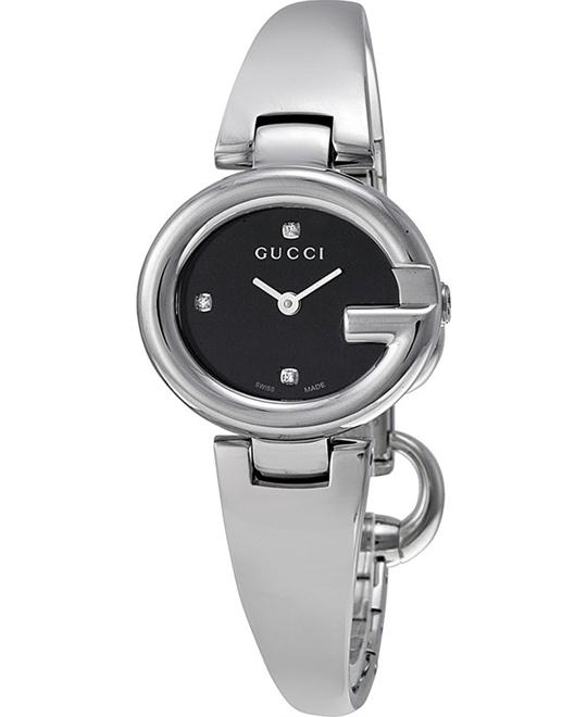 GUCCI Guccissima YA134505 Black Steel Ladies Watch 27mm