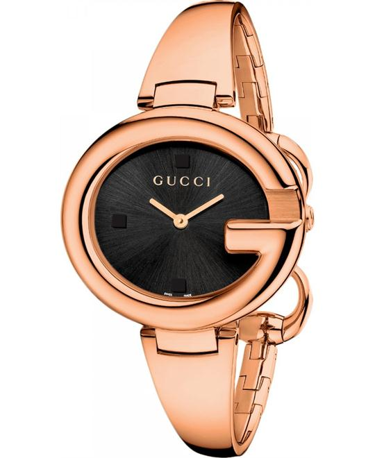 Gucci Guccissima YA134305 Women's Rose Gold Watch 36mm