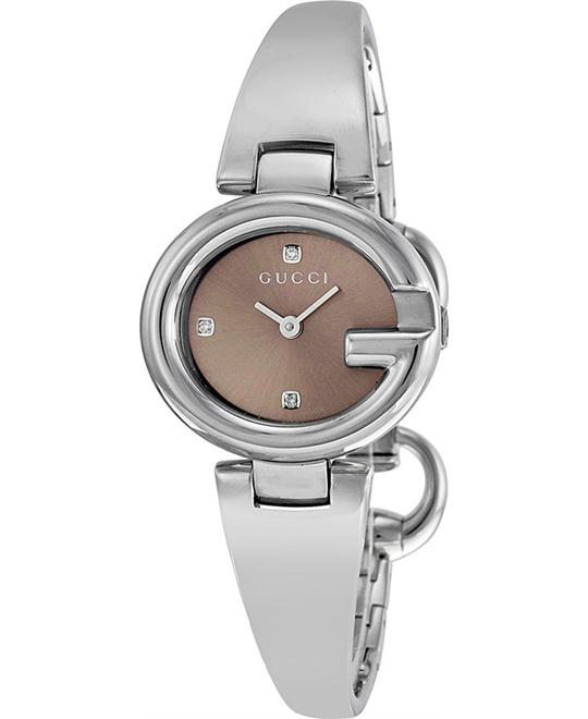GUCCI Guccissima YA134506 Brown Diamond Small Ladies Watch 27mm