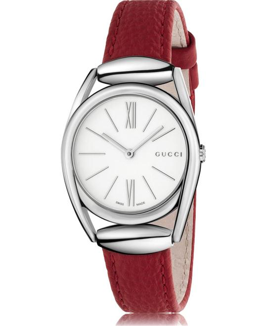GUCCI Horsebit White Red Watch 30mm