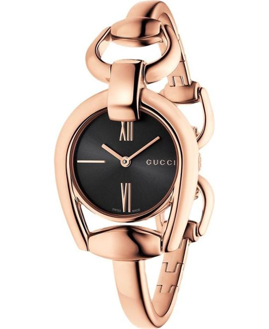 Gucci Horsebit YA139507 Rose Gold  Ladies Watch 28mm