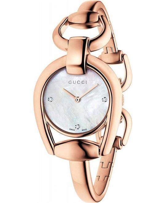 Gucci Horsebit YA139508 Rose Gold Ladies Watch 28mm