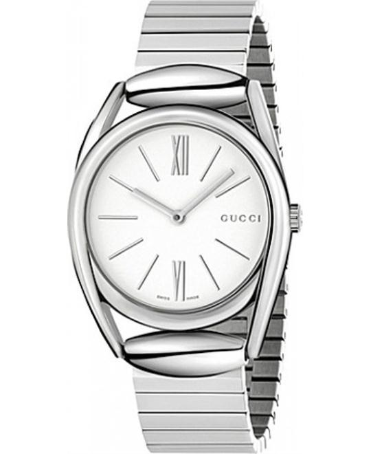 GUCCI Horsebit  White Dial Ladies Watch 34m