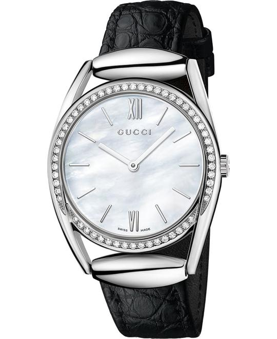 GUCCI Horsebit YA140406 Mother Of Pearl Watch 34mm