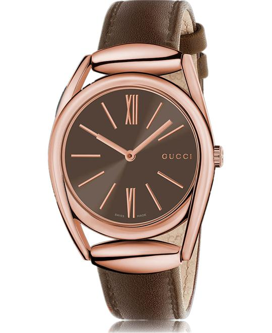 GUCCI Horsebit . Brown Dial Ladies Watch 34mm