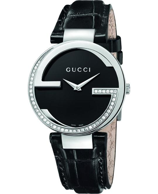 GUCCI Interlocking Black Dial Quartz Ladies Watch 37mm