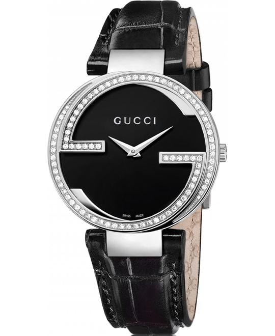 "Gucci ""Interlocking"" Diamond-Accented Women's Watch 37mm"