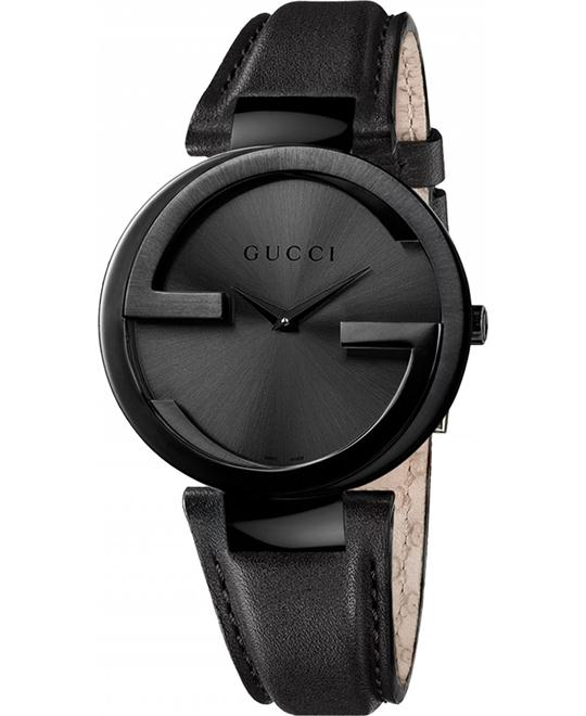 GUCCI Interlocking G Black Unisex Watch 37mm