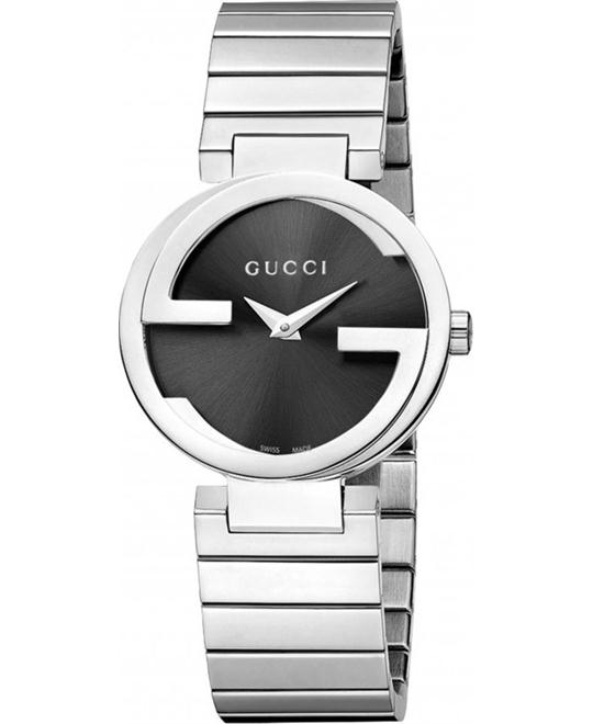 GUCCI Interlocking G Black Dial Watch 29mm