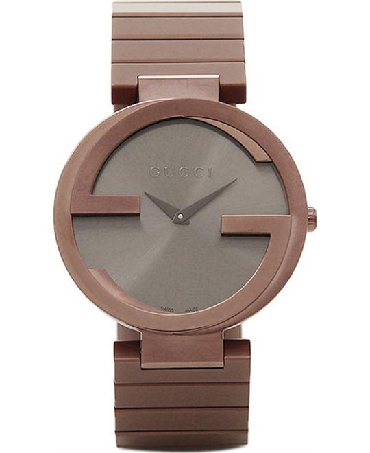 GUCCI Interlocking G Brown Dial Brown PVD Watch 37mm