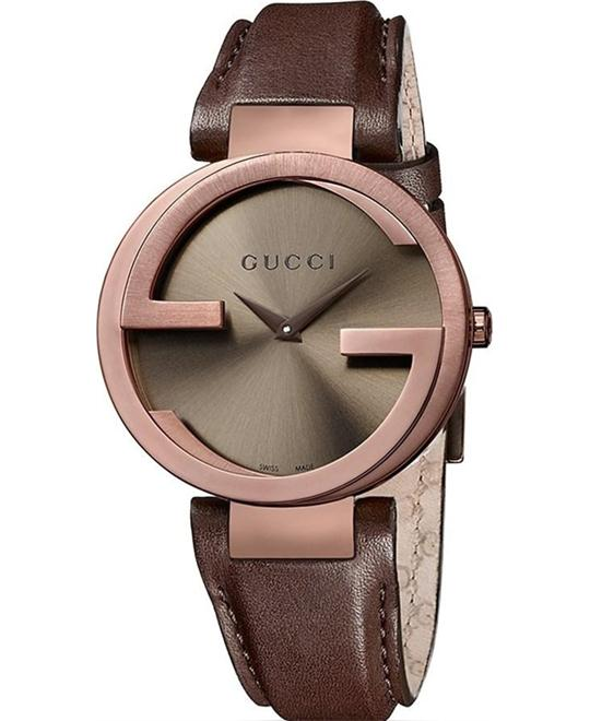 đồng hồ Gucci Interlocking G Brown Women's Watch 37mm