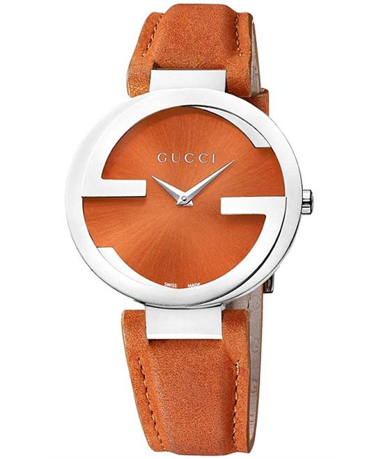 Gucci Interlocking G Orange Swiss Ladies Watch 37mm