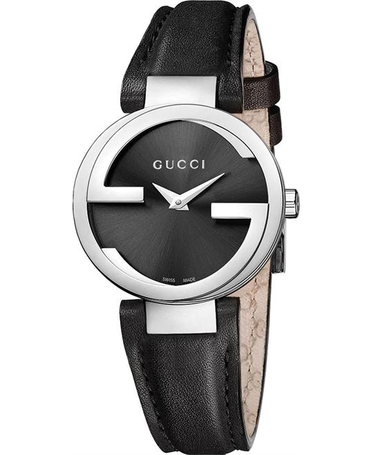 GUCCI Interlocking Item YA133501G Black Ladies Watch 29mm
