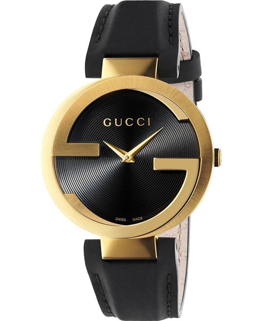 GUCCI Interlocking G Black  Watch 37mm