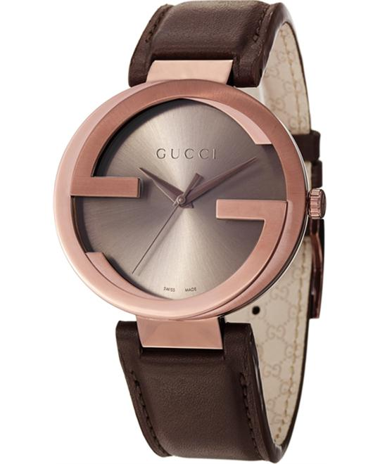 Gucci Interlocking Men's Brown Swiss Watch 42mm