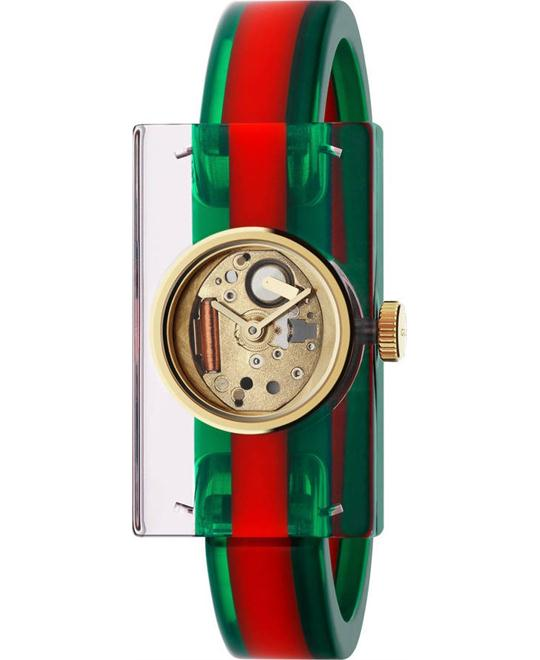 Gucci Plexiglas PVD Watch 24x40mm