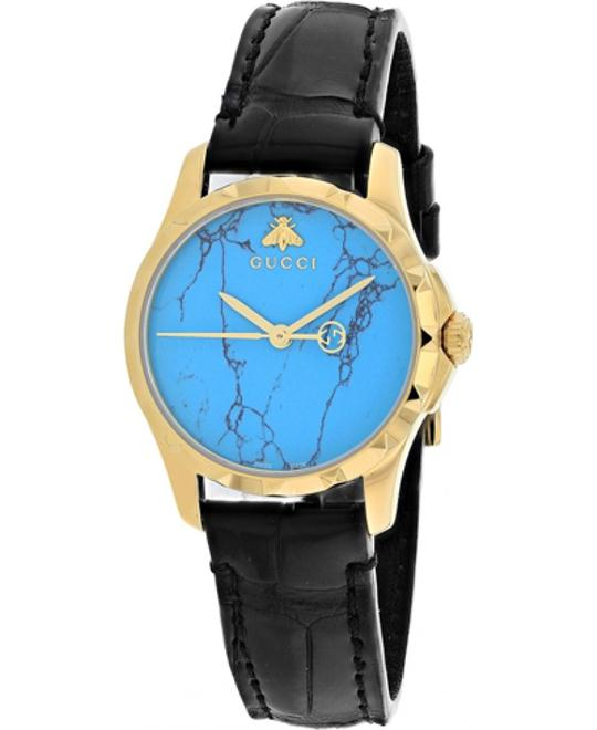Gucci Turquoise Blue Dial Watch 27mm